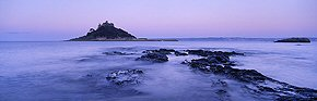 before dawn, st michael's mount