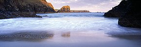 evening tides at kynance cove