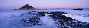 first light on st michael's mount
