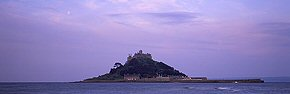 moon above st michael's mount 2