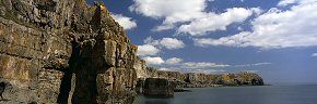 clouds above st govan's head