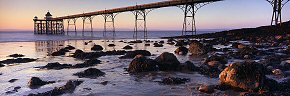 last light at clevedon pier