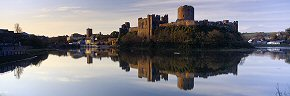 pembroke castle at dawn