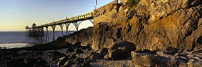 rocks at clevedon pier