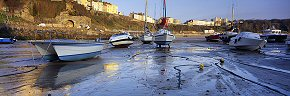 yachts at tenby harbour