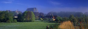morning mist at lancing college