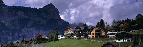 clouds and chalets at engelberg
