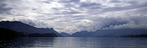 clouds over lake lucerne, from greppen