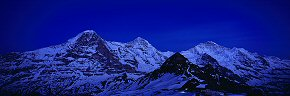 eiger, monch and jungfrau at night