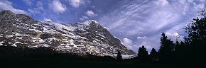 evening cloud over the eiger