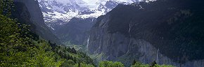 waterfalls of lauterbrunnen from wengen