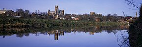 mirror reflection, durham cathedral