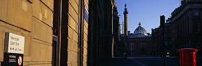 shadows on grey street, newcastle
