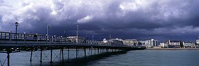 storm clouds over worthing pier