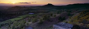 sunset over roseberry from gribdale