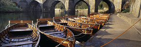 boats at elvet bridge, durham