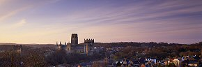 durham cathedral at dawn