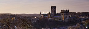 durham cathedral at sunrise