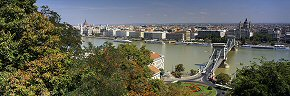 danube view from castle hill, budapest