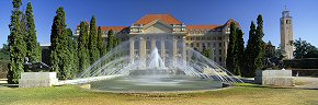 fountains at debrecen university