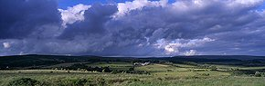 clouds above dury farm, dartmoor