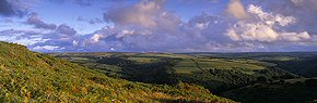 evening skies over exmoor