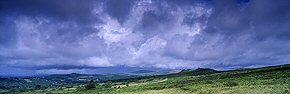 stormclouds over dartmoor