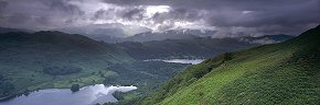 clearing rain over rydal water