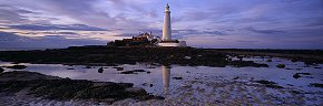 twilight colour at st mary's lighthouse  2