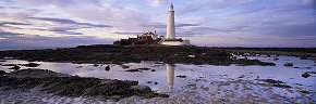 twilight colour at st mary's lighthouse
