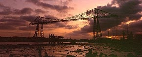sundown, transporter bridge, middlesbrough