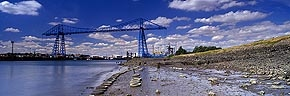 transporter bridge and foreshore