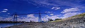 wispy cloud, transporter bridge