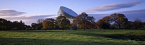 autumn dawn, jodrell bank