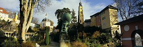 atlas statue at portmeirion