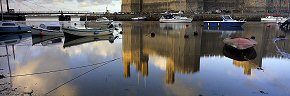 caernarvon harbour reflections