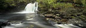 cascades at the falls of falloch