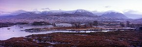 mountains beyond loch ba, rannoch moor