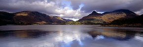 pap of glencoe reflected, loch leven