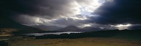 shafts of light above loch tulla