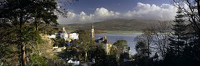 winter sunshine at portmeirion