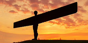 angel of the north sunset card