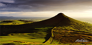 late sun roseberry topping card