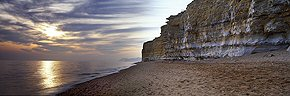 Burton Bradstock at sundown