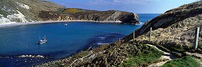 turquoise water, lulworth cove