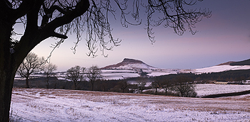 quiet evening roseberry topping card