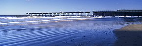 saltburn pier and sand ridges 2