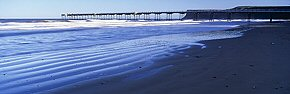 saltburn pier and sand ridges
