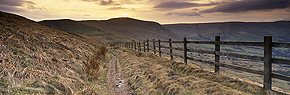 sundown in edale, peak district