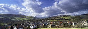 white clouds, hathersage, derbyshire